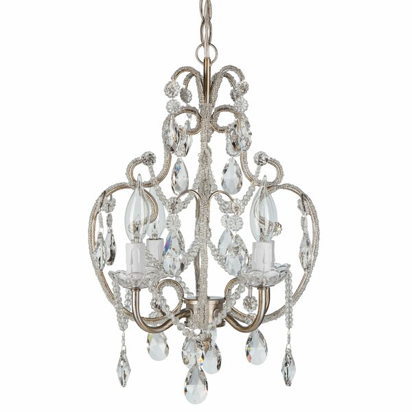 House of Hampton Alida 4-Light Crystal Chandelier with Hooks ...