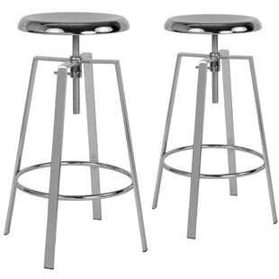 Armes Adjustable Height Swivel Bar Stool (Set of 2) by Williston Forge