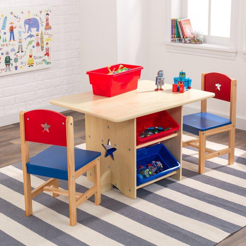 Kidkraft Kids Rectangular Arts And Crafts Table And Chair Set Reviews Wayfair