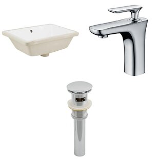 Shop For CUPC Ceramic Rectangular Undermount Bathroom Sink with Faucet and Overflow ByRoyal Purple Bath Kitchen