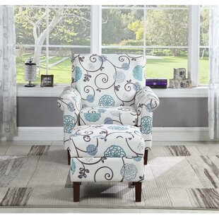 Winston Porter Dungannon Floral Armchair and Ottoman