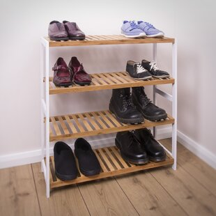 Bamboo 4 Tier 12 Pair Shoe Rack By Brambly Cottage
