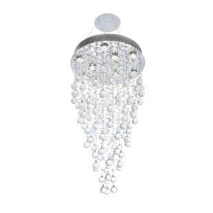 Deidamia 9-Light Crystal Chandelier