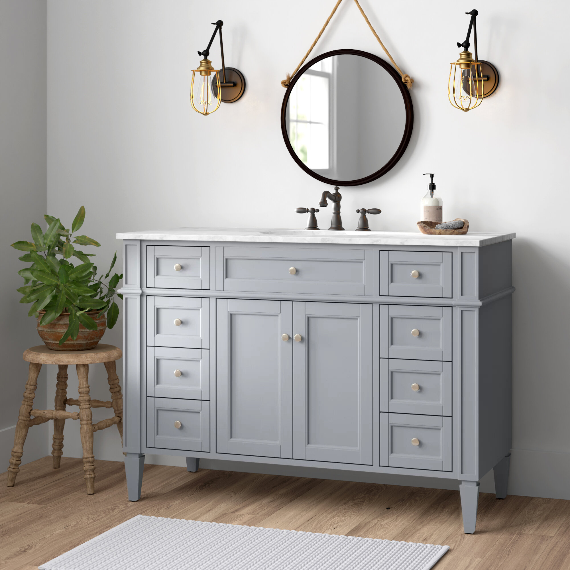 Gray Master Bathroom 48 Inch Vanities You Ll Love In 2021 Wayfair