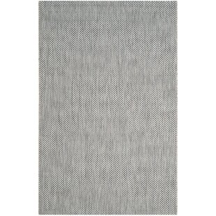 Brodie Gray/Navy Blue Indoor/Outdoor Area Rug