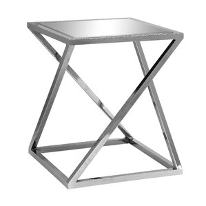 Candace Chrome Z End Table by Everly Quinn