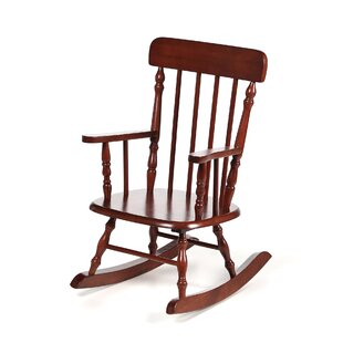 Best Barksdale Spindle Kids Rocking Chair By Harriet Bee