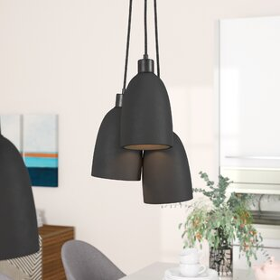 Wade Logan Trappe Shade 3-Light Cluster Pendant