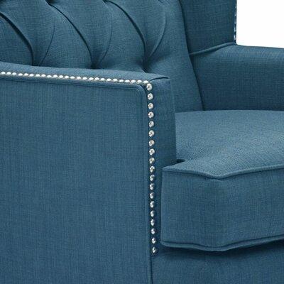 Sensational Aguilera Wingback Chair Alcott Hill Color Dark Blue Short Links Chair Design For Home Short Linksinfo