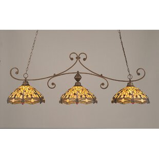 August Grove Marylin 3-Light Kitchen Island Pendant