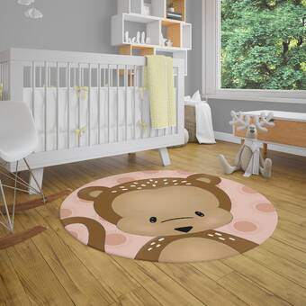 Zoomie Kids Tovar Power Loom Polyester Brown Yellow Indoor Area Rug Wayfair