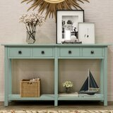 59 Solid Wood Console Table by Dovecove