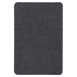 Windrim Ribbed Dark Gray Indoor/Outdoor Area Rug