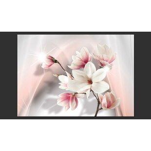 White Magnolias 2.8m x 400cm Wallpaper by Artgeist