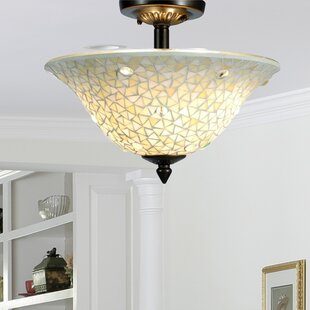 Purchase Jeweled 3-Light Semi Flush Mount By Springdale Lighting