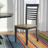 Clipper City Slat Back Side Chair in Brown (Set of 2) by Red Barrel Studio®
