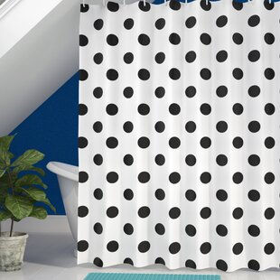 Inexpensive Baltzell Polka Dots Art Shower Curtain By Wrought Studio