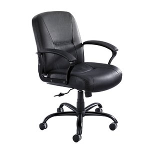 Serenity Mid-Back Leather Desk Chair by Safco Products Company