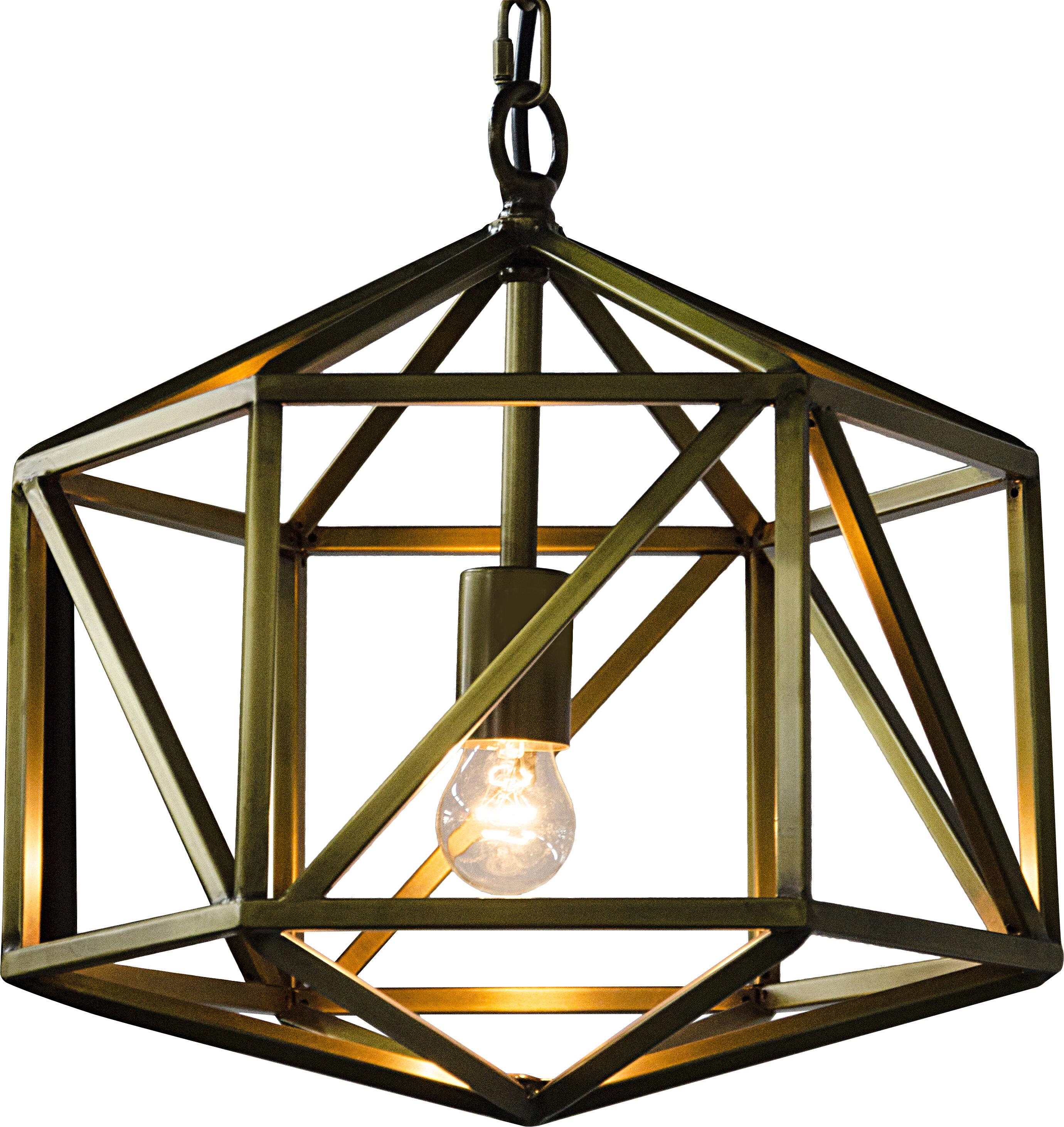 Noir Diamond 1 Light Single Geometric Pendant Wayfair