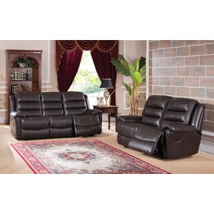 Lorretta Reclining 2 Piece Leather Living..