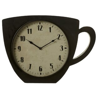 Oversized Lettunich Coffee Cup Wall Clock