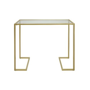 Dowling Glass Top Console Table By Zipcode Design
