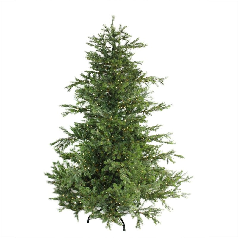 pre lit oregon noble 65 green fir artificial christmas tree with 2800 warm clear - Artificial Christmas Tree Prelit