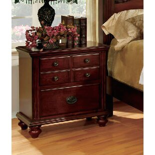 A&J Homes Studio Quarry 2 Drawer Nightstand