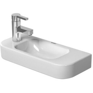 Best Choices Happy D. Ceramic 20 Wall Mount Bathroom Sink By Duravit
