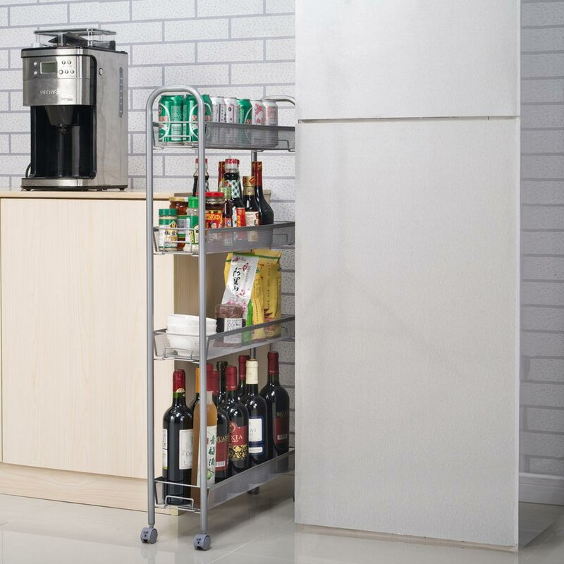 Winado 4 Tier Kitchen Slilm Rolling Storage Cart Slide Out Trolley Shelve Reviews Wayfair