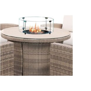 Find the perfect Norman 42 inch  Woven Round Fire Table with Glass- Burner Kit & Windscreen Reviews