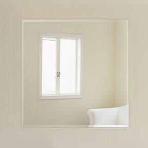 Beveled Wall Mirror frameless mirrors you'll love | wayfair