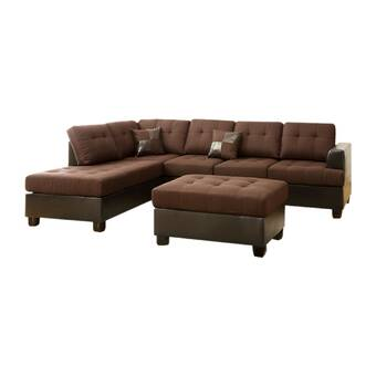 Astounding Winston Porter Giuliana Reversible Sectional With Ottoman Onthecornerstone Fun Painted Chair Ideas Images Onthecornerstoneorg