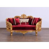 Donegan Velvet 77 Recessed Arm Loveseat by Astoria Grand