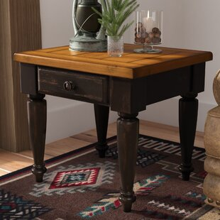 Loon Peak Arona End Table With Storage