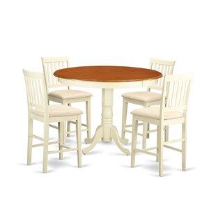 Trenton 5 Piece Counter Height Pub Table Set