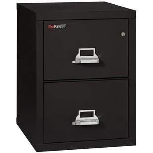 Fireproof 2-Drawer Vertical File Cabinet by FireKing No Copoun