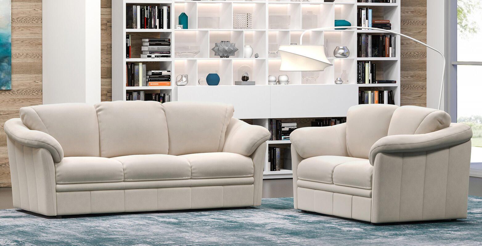 Westland and Birch Lyons 2 Piece Leather Living Room Set