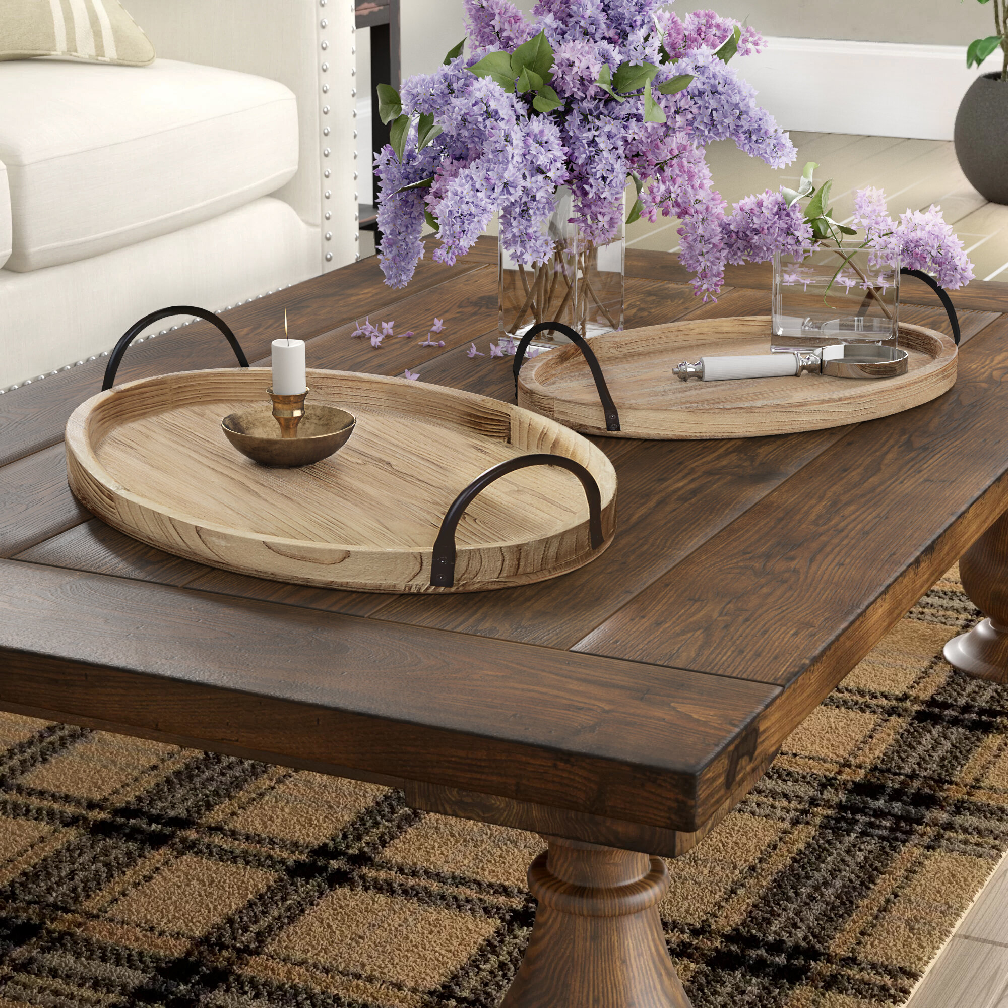 Gracie Oaks Paull 2 Piece Coffee Table Tray Set Reviews Wayfair