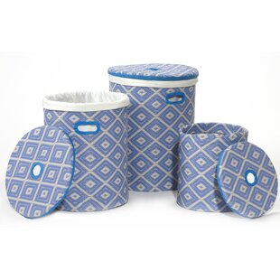 Recycled Basket Set Light Blue by Andover Mills
