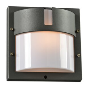 Ebern Designs Loftus 1-Light Outdoor Flush Mount