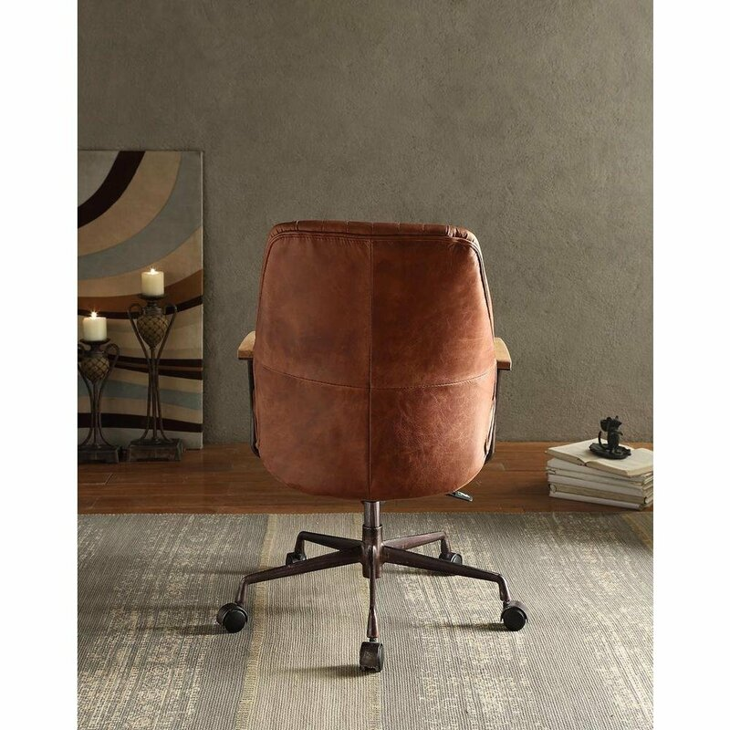 Lebo Swivel Executive Genuine Leather Office Chair
