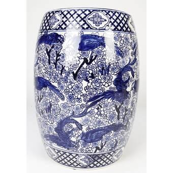 Mercury Row Knudson Ceramic Garden Stool Reviews Wayfair