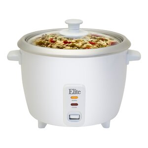 Cuisine 6 Cup Rice Cooker with Glass Lid