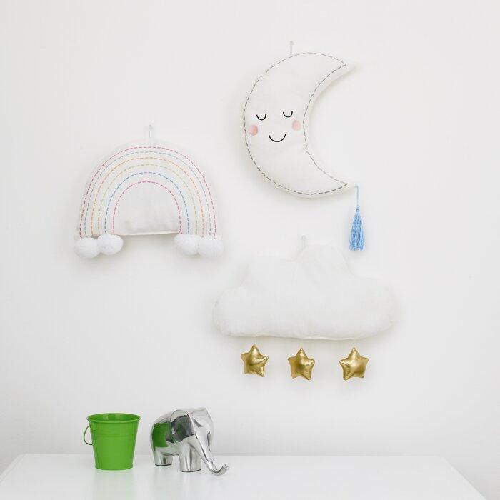 Soft Sculptures Moon Garland 3d Wall Decor