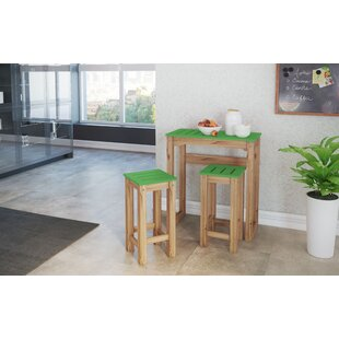 Wiggin 3 Piece Pub Table Set (Set of 3) Millwood Pines