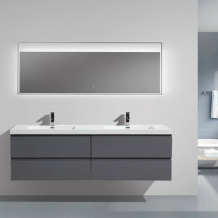 Lina 71 inch  Wall mounted Double Bathroom Vanity Set