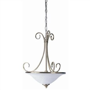 Charlton Home Waveland 2-Light Bowl Pendant