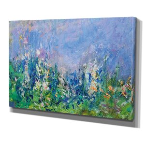 'Lavender Fields Gallery' by Claude Monet Painting Print on Wrapped Canvas