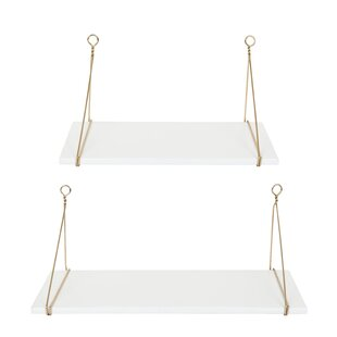 Everly Quinn Lalonde 2 Piece Wall Shelf Set